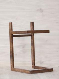 solid walnut speaker stands // for vinyl turntable set up
