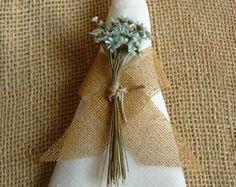 Porta Guardanapo Rustico - Flores e Juta
