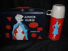 Rare Vintage 1963 Junior Nurse Vinyl Lunch Box Kit & Thermos - Very Nice !!! | eBay