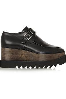 Stella McCartney Faux leather platform loafers | NET-A-PORTER