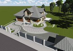 Projekt nawierzchni Płock Homestead Layout, Paving Design, Landscape Design Plans, Home Landscaping, House Entrance, Small House Design, Cabin Homes, Garden Planning, Amazing Gardens