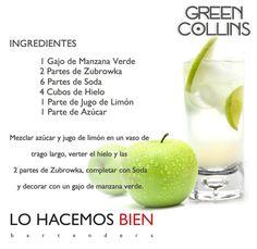 Green Collins - Festejá con Estilo! de LO HACEMOS BIEN bartenders Como preparar un Green Collins - Recipie How to prepare a Green Collins - Party with style!