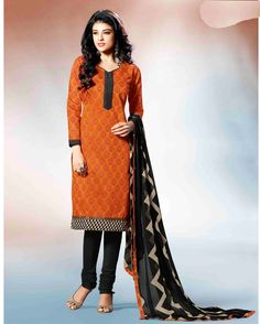Orange   Fancy Embroidered Chanderi Silk Salwar Suits for women(Semi Stitched)       Fabric:   Chanderi Silk       Work:   Embroidered       Type:   Salwar Suits for   women(Semi Stitched)       Color:   Orange                 Fabric Top   Chanderi
