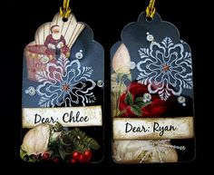 Awesome christmas tags by Irene