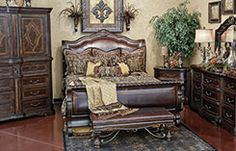 Valencia Sleigh Bedroom   Hemispheres Furniture Store Located In Oklahoma  City, OK