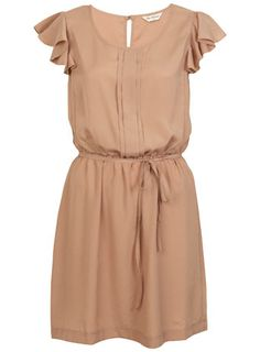 Miss Selfridge: Nude Crepe Pintuck Dress