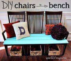 Old Kitchen Chairs Repurpose Old Kitchen Chairs into a purposeful product for the home. Diy home furniture decor on a budgetRepurpose Old Kitchen Chairs into a purposeful product for the home. Diy home furniture decor on a budget Decor, Home Projects, Redo Furniture, Diy Furniture, Old Chairs, Home Furniture, Home Decor, Repurposed Furniture, Diy Chair