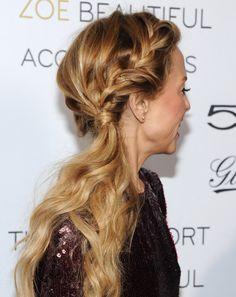Rachel Zoe rocks a wavy French braid ponytail