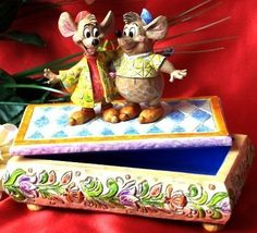 "Jim Shore Disney ""Jaq & Gus"" Jewelry Box"