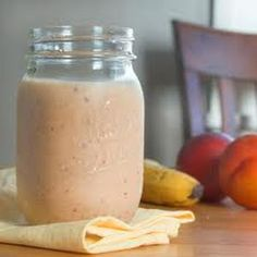 Yield: 1 Serving Ingredients: 2 cups milk 2 cups frozen unsweetened sliced peaches ¼ cup orange juice concentrate 2 tablespoons sugar 5 ice cubes Directions: mix all together Peach Banana Smoothie, Peach Smoothie Recipes, Smoothie Drinks, Healthy Smoothies, Fruit Smoothies, 21 Day Fix, Yummy Drinks, Yummy Food, Key Food