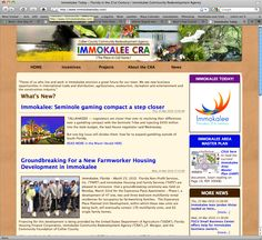 A web presence was designed/developed  for the Immokalee Community Redevelopment Agency; a trademark was created to market Immokalee area as a whole with new logo design, Main Street banners, color-coded produce stickers for local farmers. Social media Facebook & Twitter were implemented as part of online outreach. Advertising in Florida Trend magazine was also arranged.