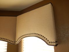 Upholstered Cornices With Decorative Nail Trim Grass