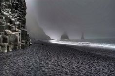 One of the most beautiful beaches on Earth. Its stretch of black basalt sand is one of the wettest places in Iceland. The cliffs west of the beach are home to many seabirds, most notably puffins which burrow into the shallow soils during the nesting season.