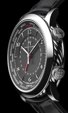 3D David Yurman Classic GMT Time Piece - Advertising by Tim Cooper - 3D Image Creation, via Behance