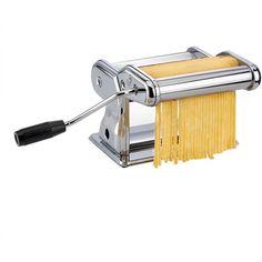 Gefu Pasta Perfetta Machine - Brilliante ($95) ❤ liked on Polyvore featuring home, kitchen & dining, small appliances, metallic, retro kitchen accessories, pasta maker and pasta machine