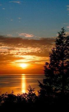 Million Dollar Sunsets ~ taken from M119 between Good Hart and Cross Village, Michigan.