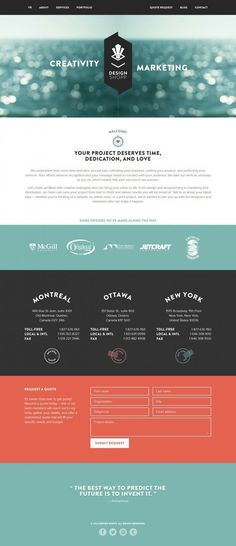 Montreal Web Design Company - Design Shopp - Webdesign inspiration www.niceoneilike.com #WebDesignCompany