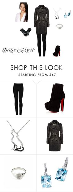 """""""Winter Outfit"""" by frostwolf1864 ❤ liked on Polyvore featuring Wolford, Christian Louboutin, Malin + Mila, Burberry, Myia Bonner and Kane"""
