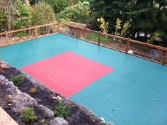 Sports court and landscape design. Contact SMS for a quote. Superiormaintenancesolutions.com
