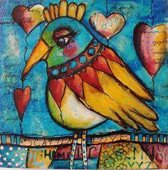 My Online Class With Jodi Ohl--Dirty Flirty Birds....