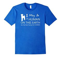 Mens My Real Family Are Canines T Shirt- Labrador Retriever Gift  3XL Royal Blue
