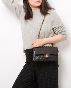 vintage chanel 9 classic flap bag model