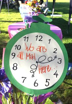 57 Ideas Birthday Decorations Office Alice In Wonderland For 2019 Alice In Wonderland Clocks, Alice In Wonderland Decorations, Alice In Wonderland Tea Party, Madd Hatter, Mad Hatter Party, Mad Hatter Tea, Alice Tea Party, Tea Party Birthday, Happy Birthday