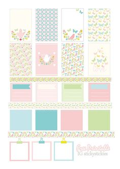 Free Printable Planner Stickers Set 'Tea Party' | Source: stickystickies