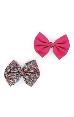 Deb Shops Set of 2 Bow Clips $4.50