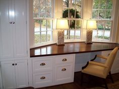 Built in desk - by cutmantom @ LumberJocks.com ~ woodworking community