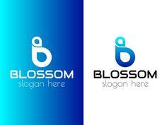 Blossom - B letter logo designed by BdThemes. B Letter Logo, Saint Charles, Creative Logo, Show And Tell, Slogan, Logo Design, Branding, Graphics, Lettering