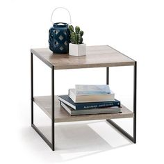 industrial Side Table homemaker Option for side table in living room. This works better than the Red side table you have at the moment which is a bit distracting in the space. Industrial Side Table, Industrial Furniture, Coffee Table Design, Living Room Furniture, Home Furniture, Furniture Ideas, Table Furniture, Best Interior Paint, Interior Modern
