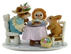 EASTER TEA FOR THREE by Wee Forest Folk, WFF# M-177d, Limited Edition 2011