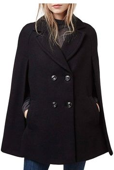 Topshop Double Breasted Cape