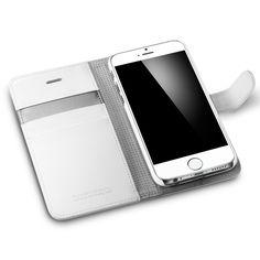 Amazon.com: iPhone 6 Plus Case, Spigen® [Stand Feature] iPhone 6 Plus (5.5) Case Wallet [Wallet S] [White] Premium Wallet Case STAND Flip Cover for iPhone 6 Plus (5.5) (2014) - White (SGP10919): Electronics