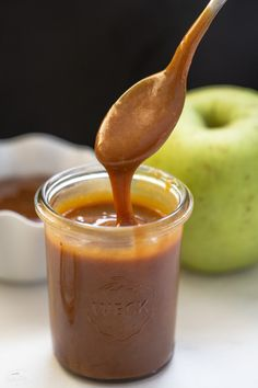 Homemade Caramel Sauce is easy to make with only 3 ingredients
