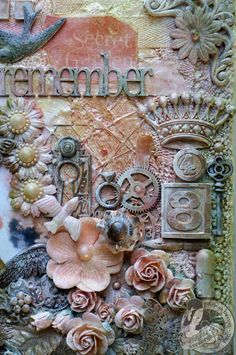 Butterfly Kisses: Secret Garden Mixed Media Altered Canvas & Tutorial