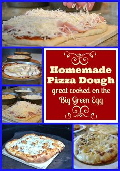 The Patriotic Pam.: Big Green Egg Pizza with Amazing Homemade Pizza Dough Big Green Egg Pizza, Green Egg Bbq, Big Green Egg Grill, Green Eggs And Ham, Green Egg Cooker, Grilling Recipes, Cooking Recipes, Grilling Ideas, Pizza Recipes