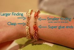 DIY Nordstrom Bracelet: How to finish it. Easy!