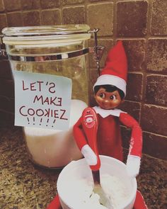 S'more the elf on the shelf knows just the thing to make your January more cozy... COOKIES! #elfontheshelfideas #cookierecipes