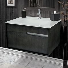 """You'll love the Cityscape 29.6"""" Single Wall Mounted Vanity at AllModern - With Great Deals on modern Renovation products and Free Shipping on most stuff, even the big stuff."""