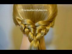 Waffle Cone Ponytail, Easy Hairstyle - YouTube