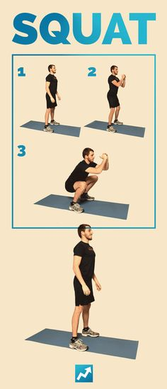 The Only 12 Exercises You Need To Get In Shape // How to do a squat the RIGHT way