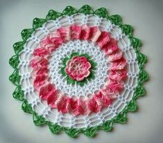 Vintage Rose Doily