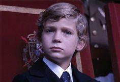 Su Majestad el Rey Felipe VI de niño.