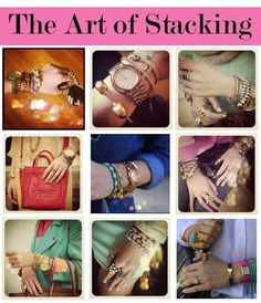 #howto #Ideas on #Stacking #Bangles #style #fashion #accessories #accessorizing #bracelet #wrap #wrapbracelet #jewelry