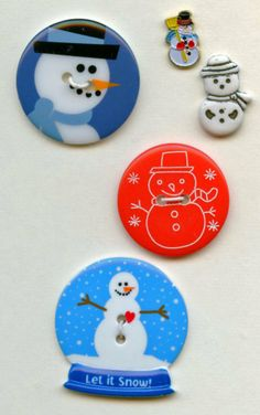 Snowman buttons..available in my ecrater store
