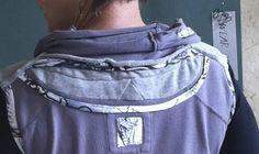 My studio vest...from 3 recycled sweatshirts. Diane Ericson Design