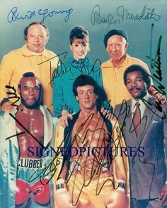 ROCKY CAST AUTOGRAPH AUTOGRAM AUTOGRAMME 8x10 RP PHOTO SYLVESTER STALLONE + BY 6 - Photographs Pinned from Bonanza Sylvester Stallone, Rocky Legends, Andre Luis, Rocky Film, Burt Young, Stallone Rocky, Carl Weathers, Cultura Pop, Movies Showing