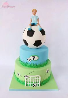 Beautiful soccer cake